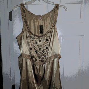 New Ladies Taupe Coin Top Size 18/20